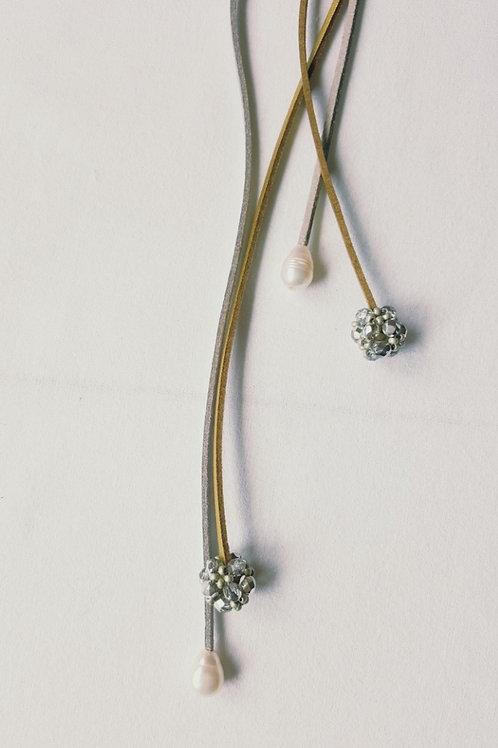 Colar longo suede tipo gravata MM31