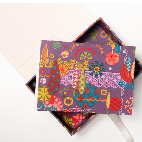 Álbum Fotográfico + caixa formas com rendas+  Caixa MM85