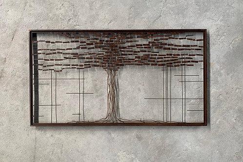 Escultura de parede Árvore G -  000