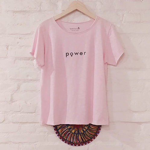 Camiseta Power rosa/cinza MM6