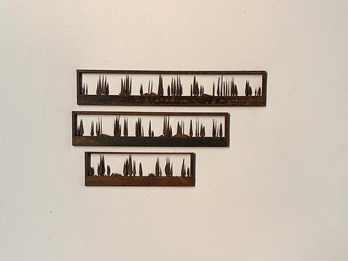 Escultura de parede conjunto 2 peças sobrepostas - 007