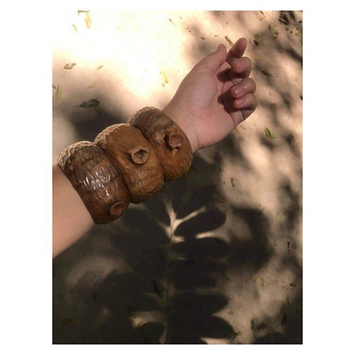 Bracelete Olhos D'árvore. Formato orgânico MM80