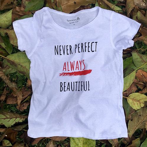 Camiseta never perfect branca MM69