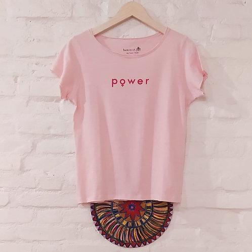 Camiseta Power rosa/vermelho MM6