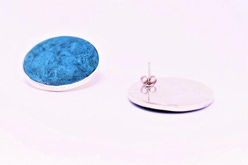 Brinco Círculo Azul  MM09