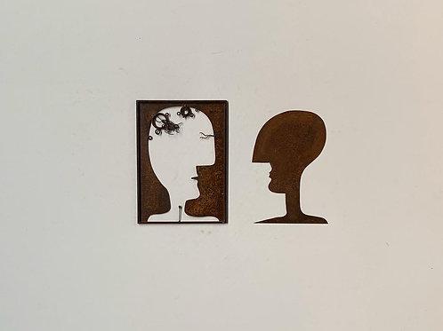 Escultura de parede conjunto 2 peças   - 0011
