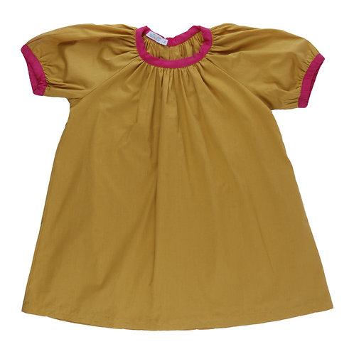 Vestido Alegria mostarda MM11