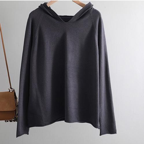 Blusa Capuz: Lã, Viscose + Elastano MM58