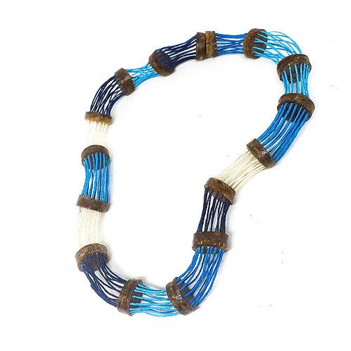 Colar Onda Azul MM09
