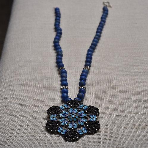 Colar Lapis Lazuli Retrô MM27