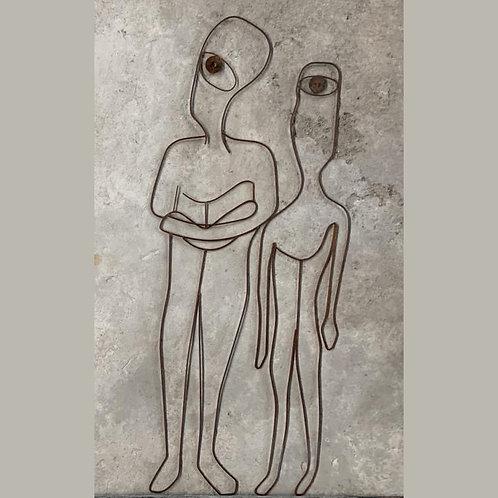 Escultura de parede conjunto 2 peças Humanos - 0025 B