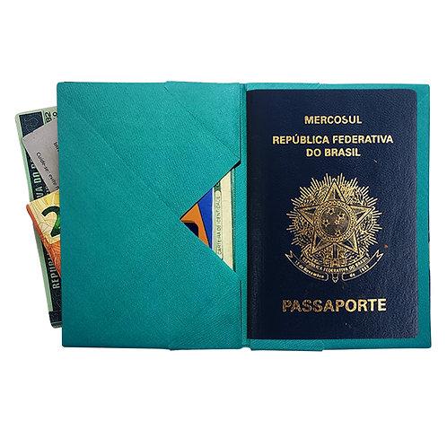 Porta Passaporte-Azul Tiffany_Liso MM74