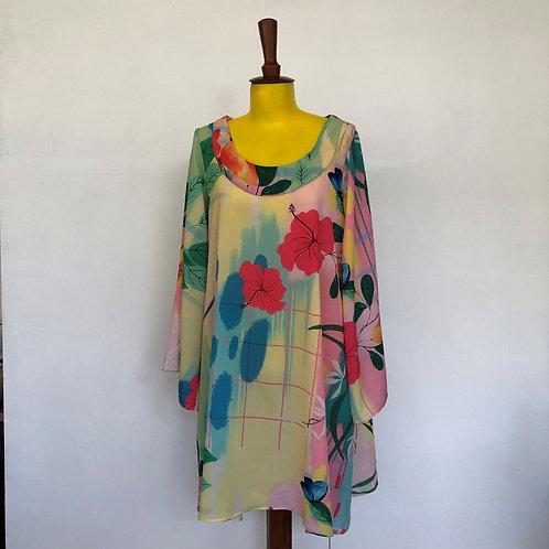 Vestido Trapézio Hibisco MM98