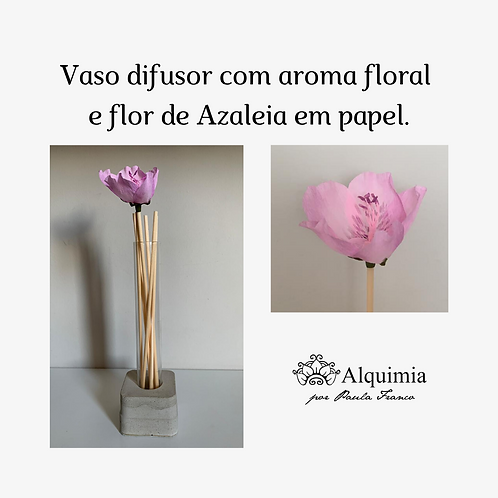 Vaso difusor de aroma com flor de papel MM05