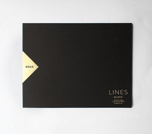 Block de Práctica Negro (Lines Black)
