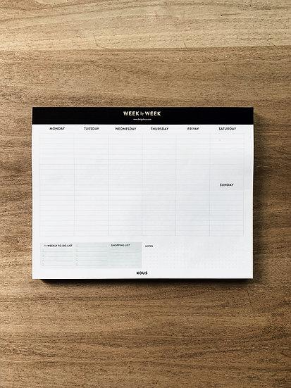 Organizador week by week