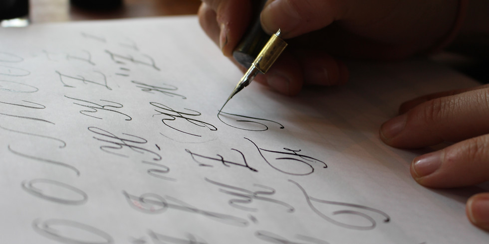 ONLINE LIVE CLASS - Intro to Copperplate Calligraphy - May 16th (English-instructed)