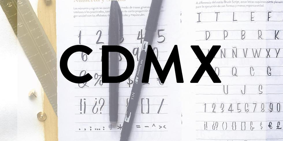 CDMX  - CALIGRAFÍA CON BRUSHPEN (RETRO STYLE) - 10 de NOVIEMBRE