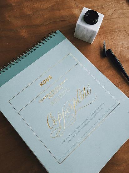 Cuaderno de práctica Copperplate