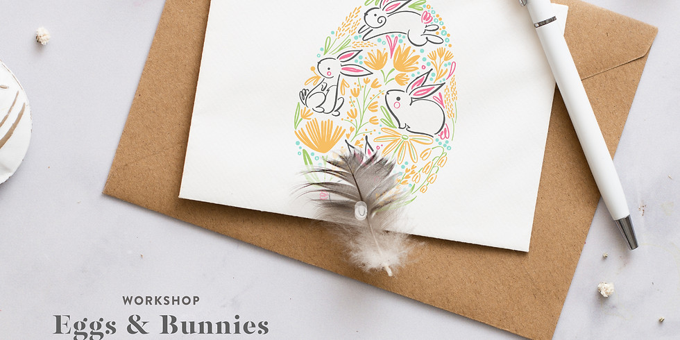 EGGS & BUNNIES EASTER WORKSHOP - CARDS & EGG DECORE - ON DEMAND (ENGLISH TAUGHT)