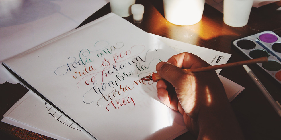 SESION DE PRÁCTICA - CATCHING UP WITH CALLIGRAPHY (3horas)