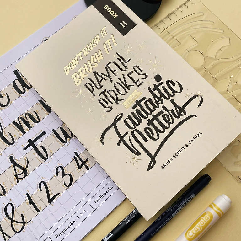 LIVE ONLINE CLASS - RETRO BRUSH CALLIGRAPHY - Sep 4th & 5th (English-instructed)