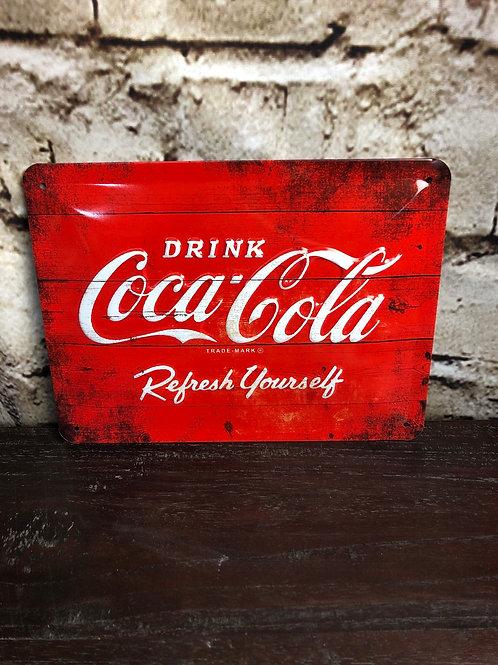 Plaque Coca-Cola