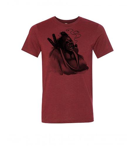 AKUTO GORILLA BAMBOO BLEND T SHIRT - JIGOKU RED
