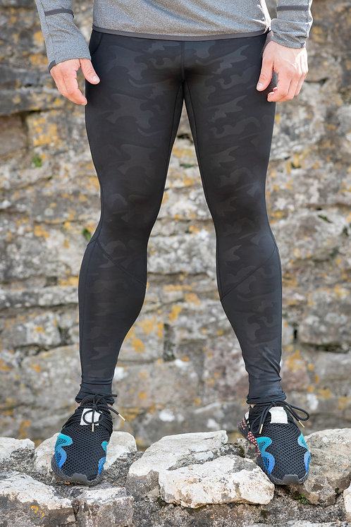 ICE DRY  - GORILLA SKIN LEGGINGS - BLACK CAMO