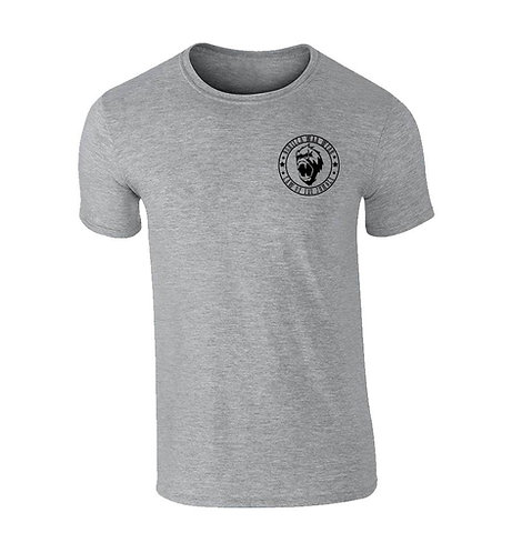 TRIBAL LAW BAMBOO BLEND T SHIRT -GUN GREY