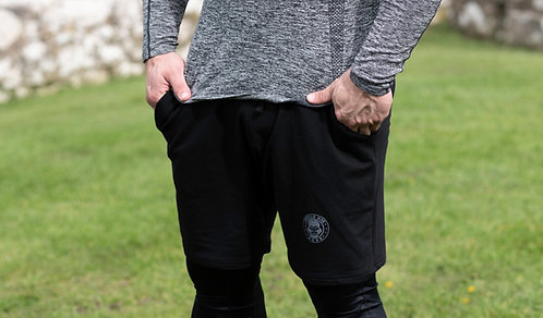 ICE DRY  - JOG SHORTS -MIDNIGHT BLACK