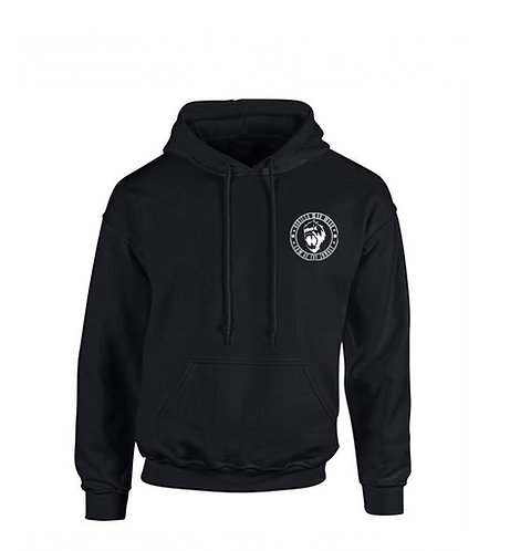 TRIBAL LAW HOODED SWEATSHIRT - MIDNIGHT BLACK