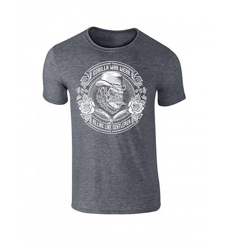 THE GUV'NOR BAMBOO BLEND T SHIRT - HEATHER SMOKE