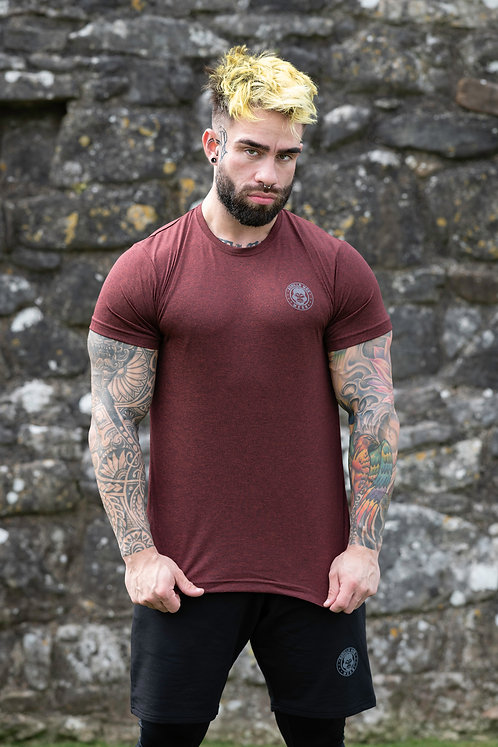 ICE DRY SHORT SLEEVE e-vAPE -BURGANDY/BLACK STORM