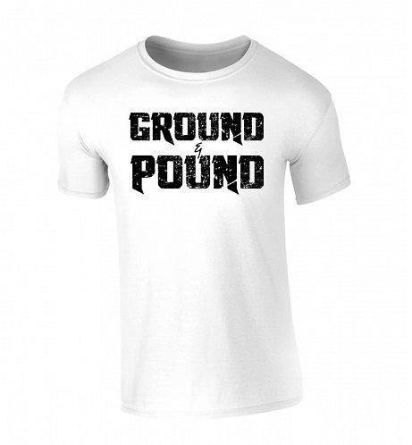 GROUND AND POUND T SHIRT - ICE WHITE