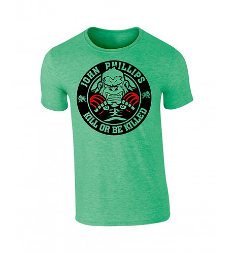 JOHN PHILLIPS SIGNITURE KILLER T SHIRT - EMERALD HEATHER
