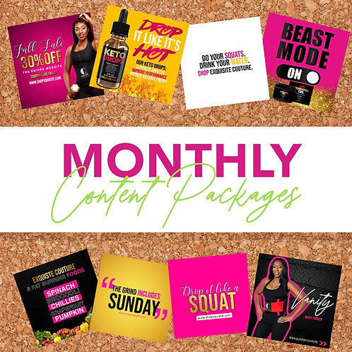 15 Day Custom Monthly Content Package