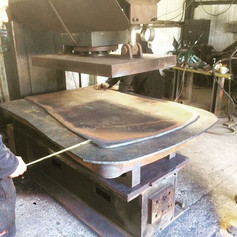 Measure twice and flange once, steam locomotive firebox end plate in the making.jpg