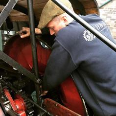 On site repairs at #blistshill #blistshillvictoriantown nothing worse than a loose crank #roadloco #roadlocomotive #steamengine #steam #engi