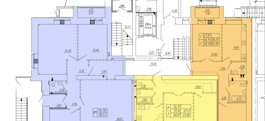 1 этаж 3 подъезд