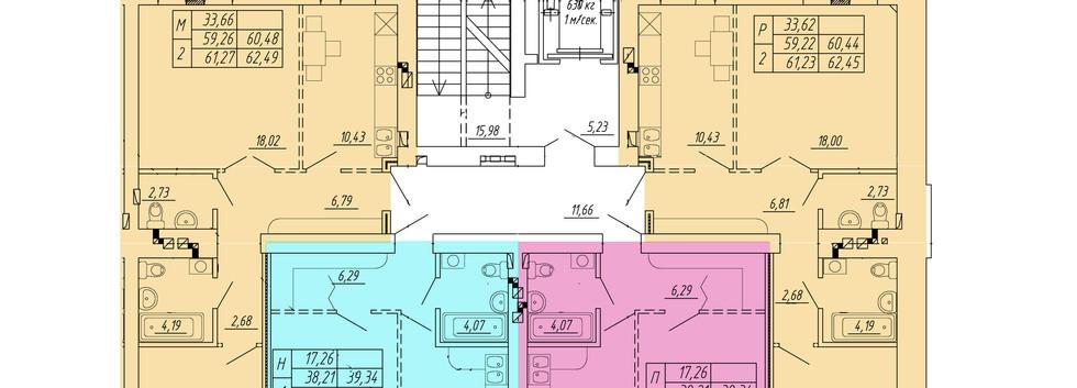 типовой этаж 1 подъезд