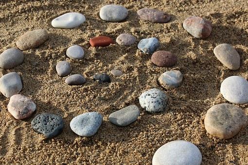 pierres, cailloux, plage