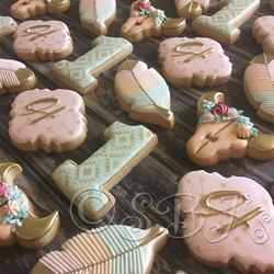 Boho Birthday Cookies in pastel