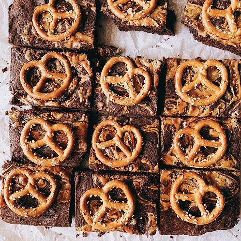 Salted Pretzel Brownie