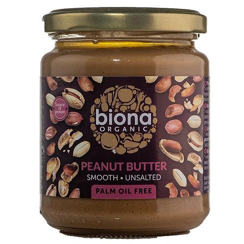 Biona Organic Smooth Peanut Butter, 250 g