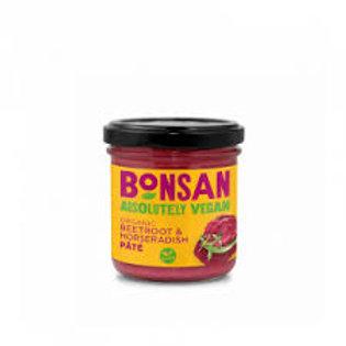 Bonsan Organic & Vegan Beetroot Horseradish Pate, 130