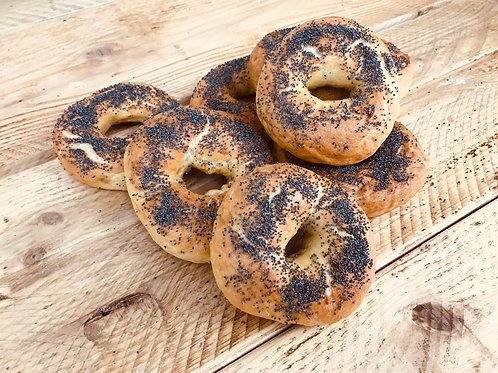 Handmade Bagels with poppy seeds