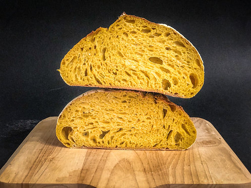 Turmeric Yellow Sourdough Bread