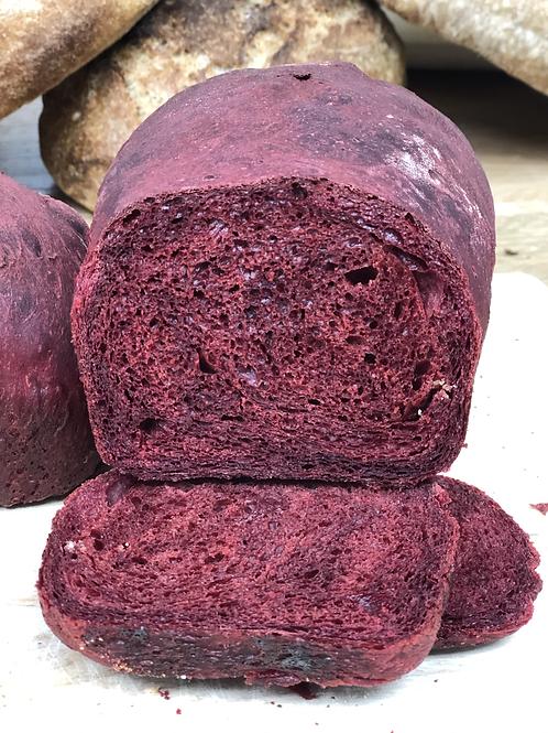 Beetroot tin loaf