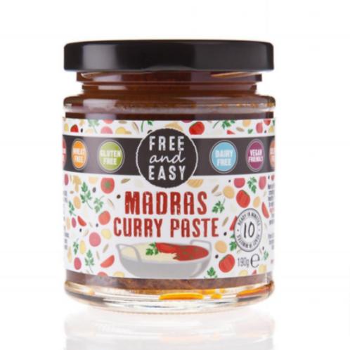 Free & Easy Gluten Free Madras Curry Paste, 198 g